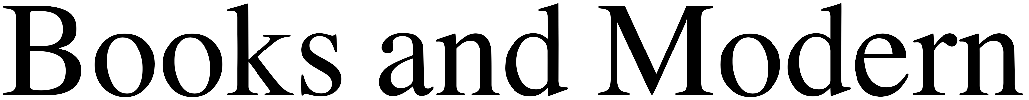 Books and Modern ウェブサイトロゴ